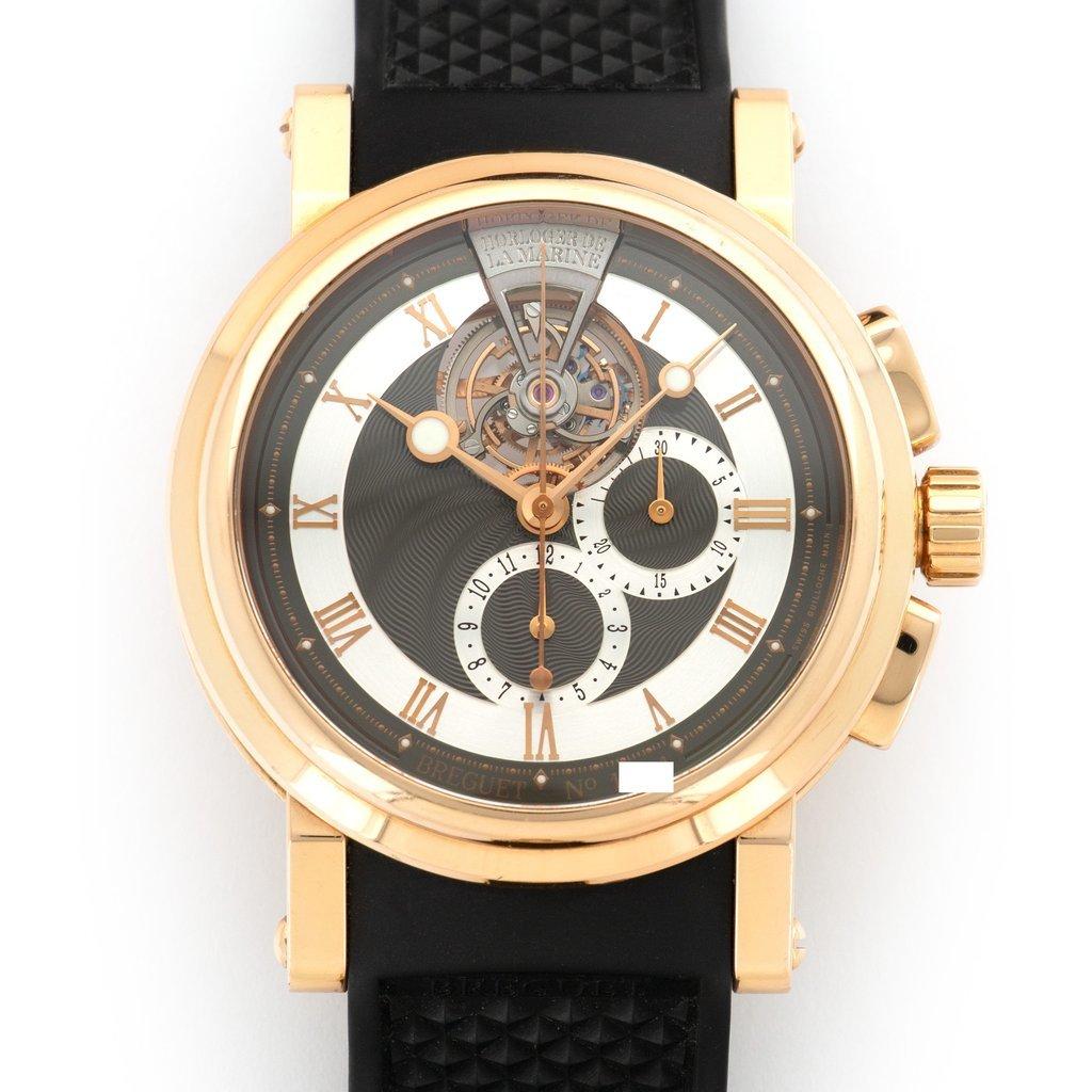 ★BREGUET★ブレゲ マリーン MARINE2 トゥールビヨン18Kローズゴールド最高級腕時計!!大変希少!! 入手困難!!_画像2