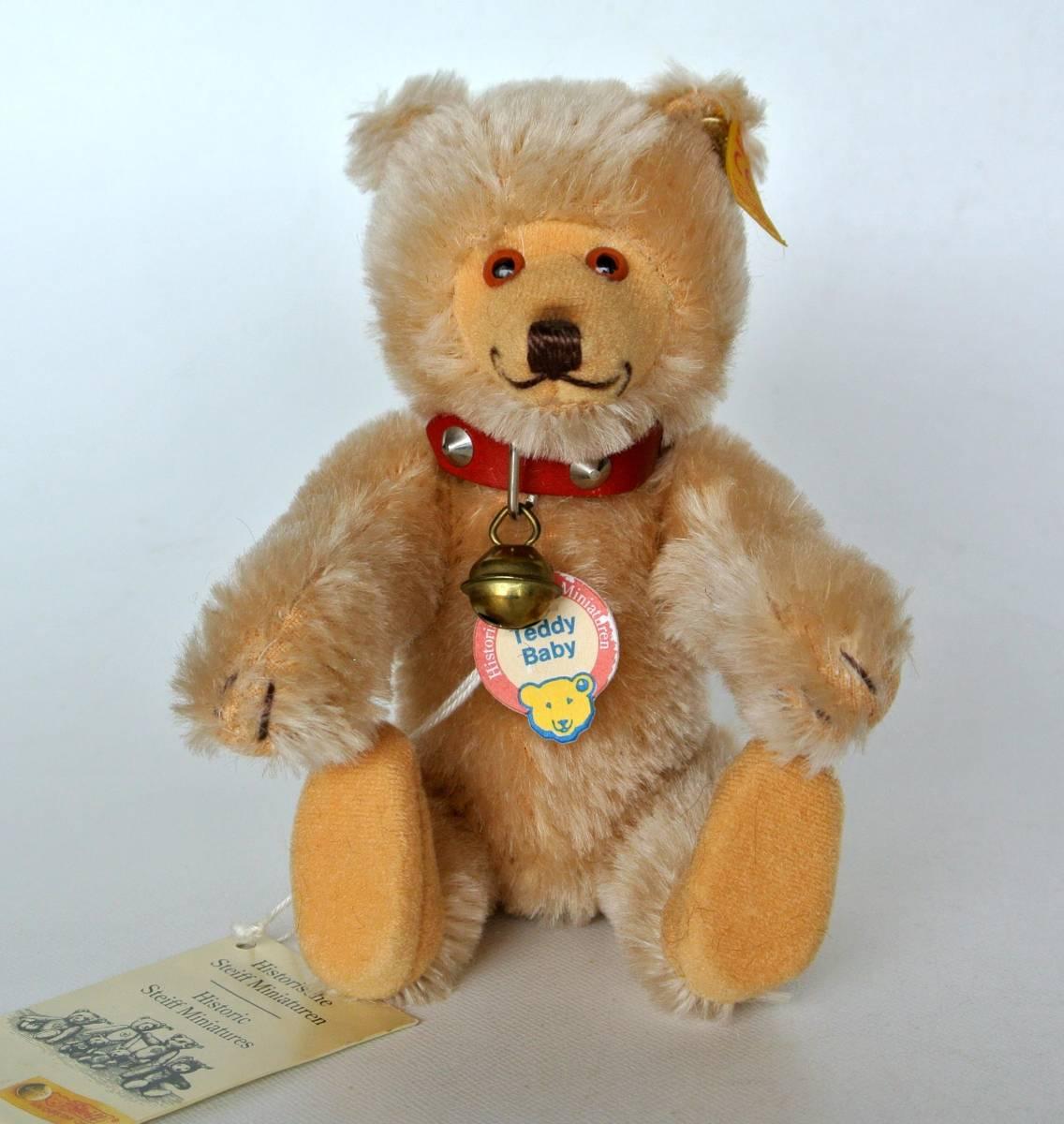 シュタイフ  1992~1998年 ヒストリック ミニチュア Teddy Baby 16cm