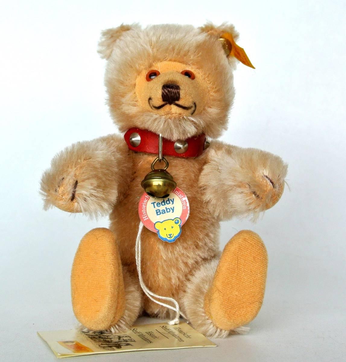 シュタイフ  1992~1998年 ヒストリック ミニチュア Teddy Baby 16cm_画像2