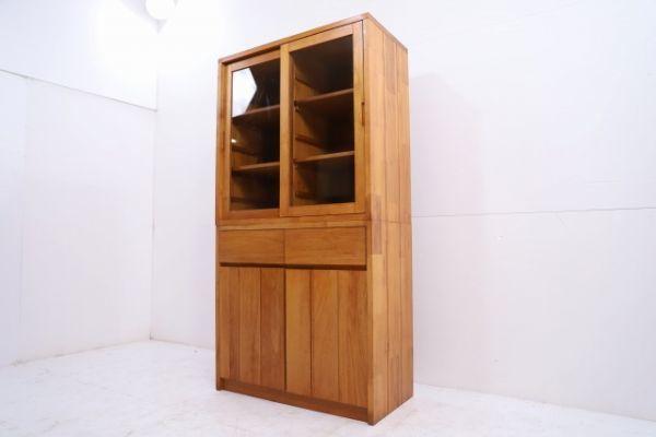unico 14万「BREATH」チーク無垢材 カップボードS 食器棚 シェルフ キャビネット ウニコ ブレス 北欧モダンStyle_画像3