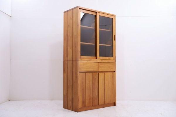 unico 14万「BREATH」チーク無垢材 カップボードS 食器棚 シェルフ キャビネット ウニコ ブレス 北欧モダンStyle