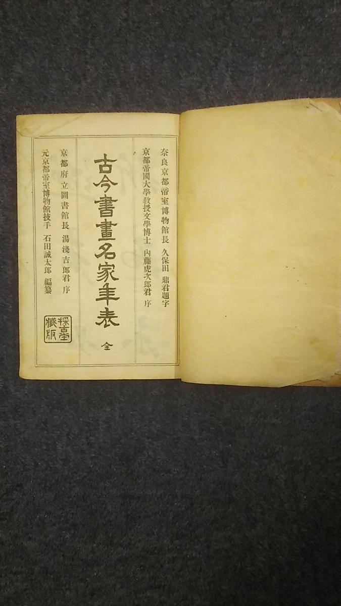 蔵出し古書/古今書画名家年表全_画像2
