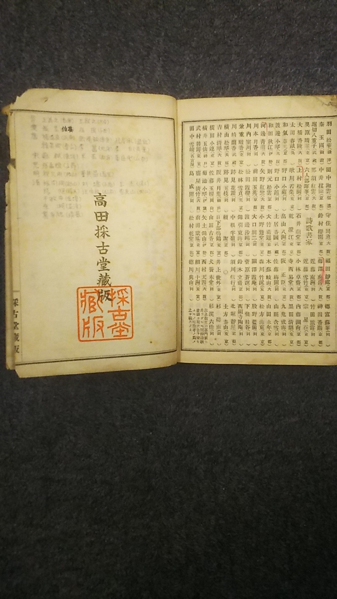 蔵出し古書/古今書画名家年表全_画像5