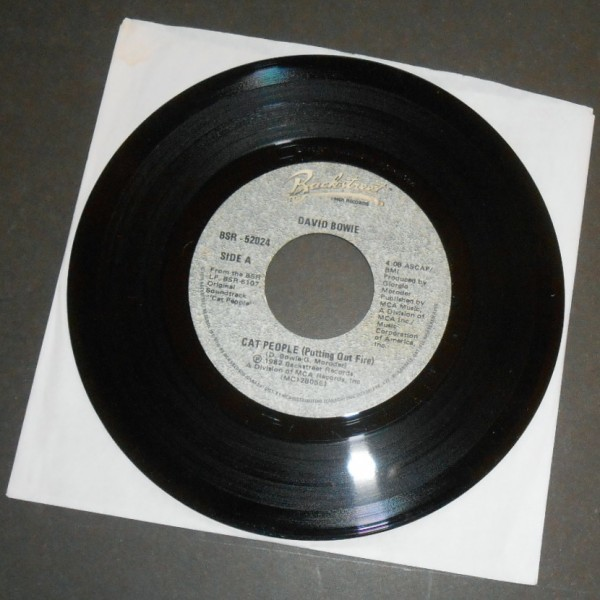 DAVID BOWIE / GIORGIO MORODER Cat People カナダ盤シングル_画像1