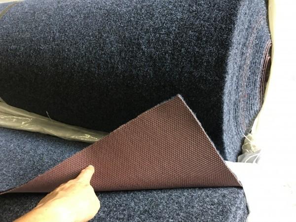 「全国送料込/アルミ艇デッキ/①厚手マリンカーペット裏側はラバー付/black 2m/1m」の画像2