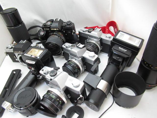 292☆ミノルタ ジャンクセット SR-1S 1.7 55mm/X-700 35-70/XEb/SRT101 58mm 1.4/シグマ 75-250/ZOOM 100-200mm カメラ レンズ 1円~