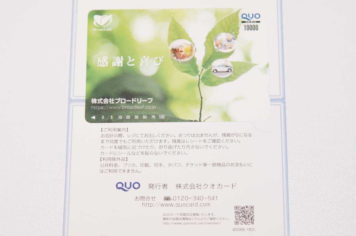 QUO card 10,000 jpy minute * free shipping * QUO card *7
