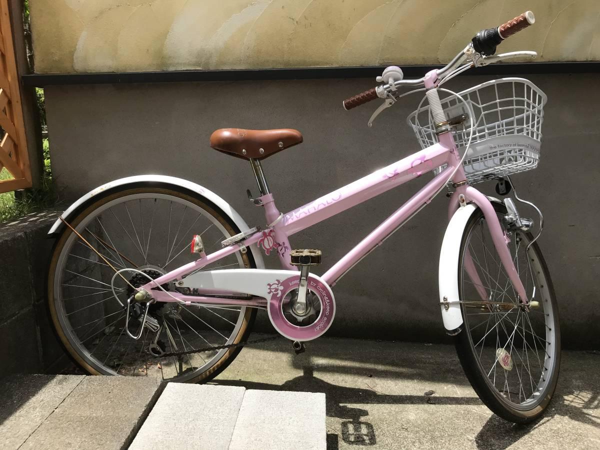 【引き取り限定】中古 神奈川 子供用自転車 22インチ ピンク色 _画像2