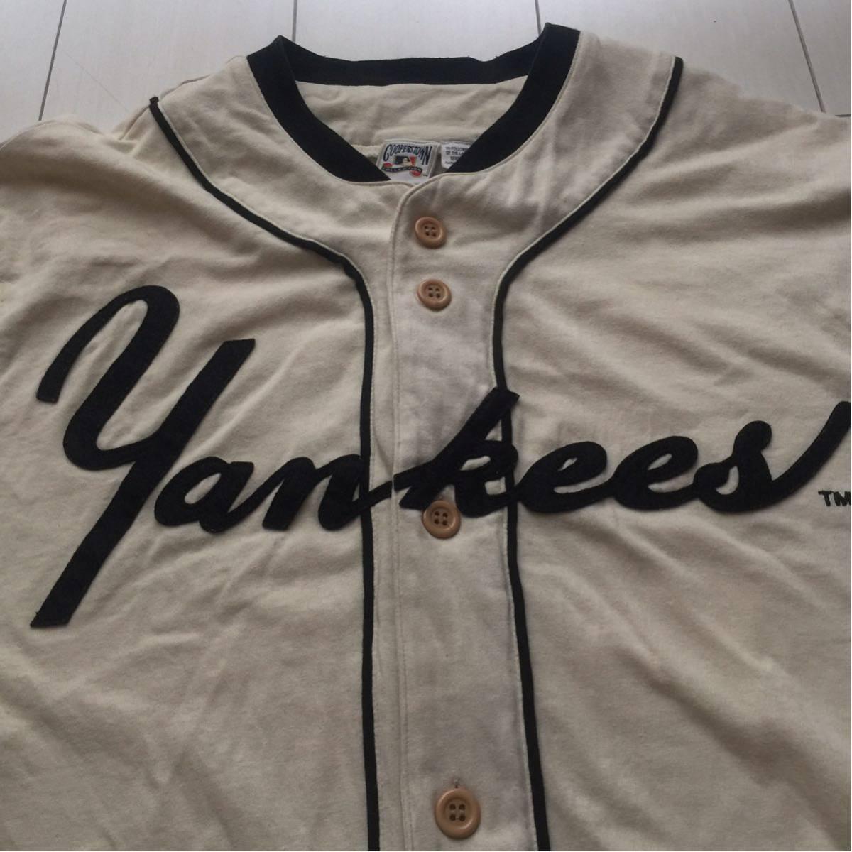 送料無料 coopers town baseball shirt new york yankees クーパーズタウン ヤンキース ベースボールシャツ old オールド 1927 vintage MLB_画像4