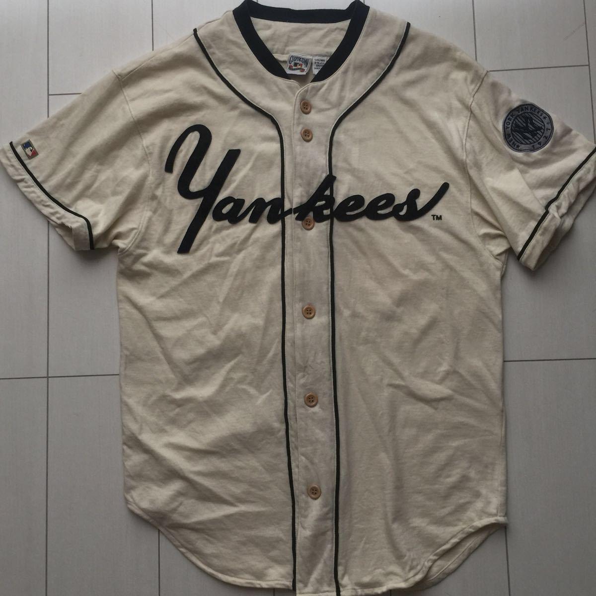 送料無料 coopers town baseball shirt new york yankees クーパーズタウン ヤンキース ベースボールシャツ old オールド 1927 vintage MLB_画像1