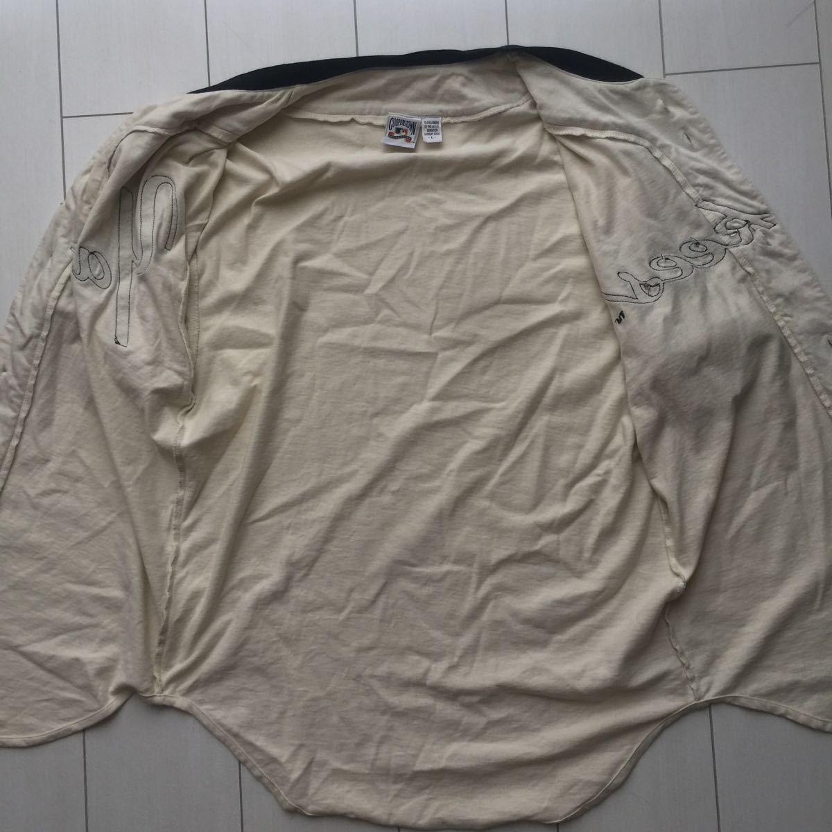 送料無料 coopers town baseball shirt new york yankees クーパーズタウン ヤンキース ベースボールシャツ old オールド 1927 vintage MLB_画像7
