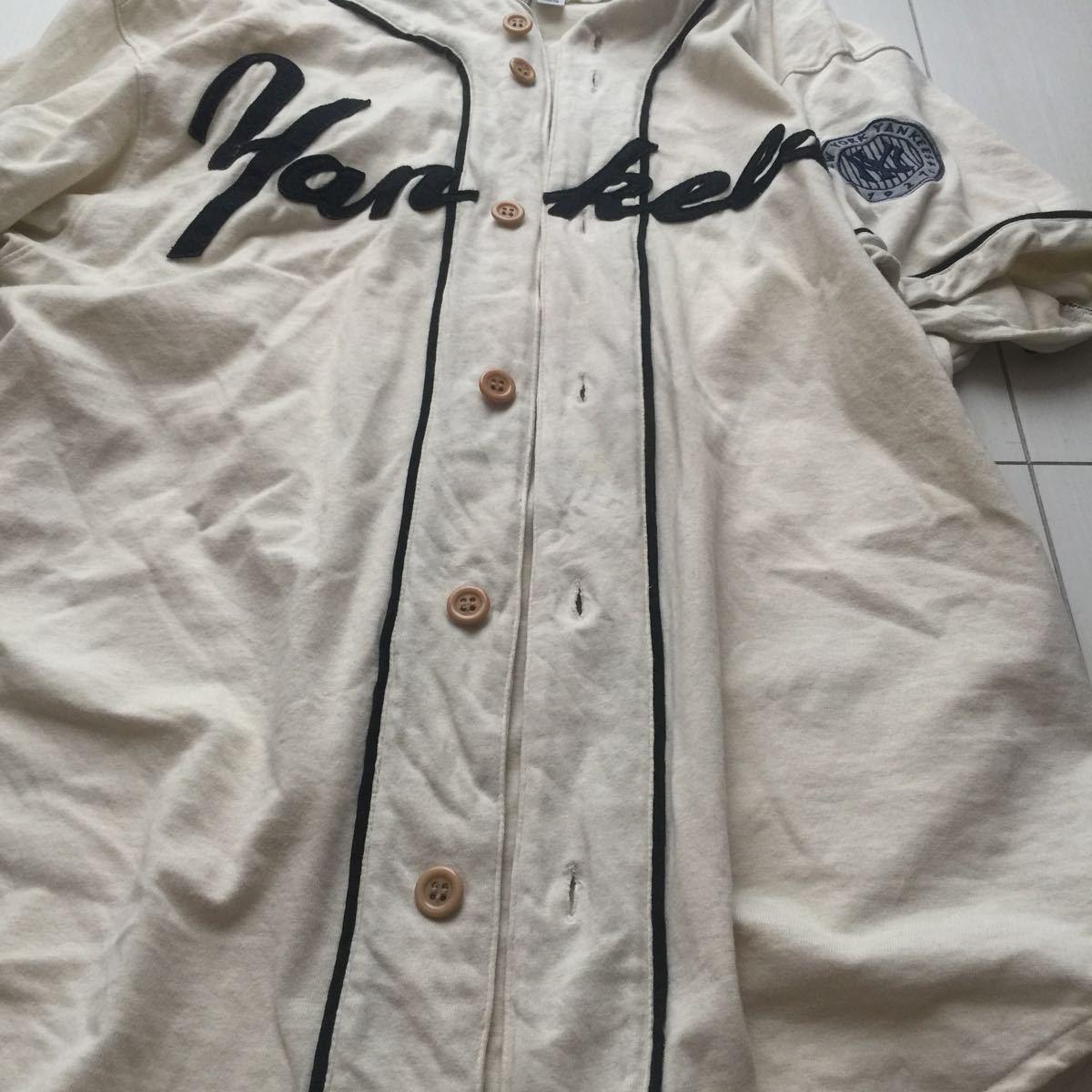 送料無料 coopers town baseball shirt new york yankees クーパーズタウン ヤンキース ベースボールシャツ old オールド 1927 vintage MLB_画像8