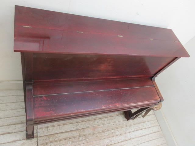 ヤマハ製ピアノ昭和14年日本楽器製     アンティーク店舗什器カフェ什器古家具_画像4