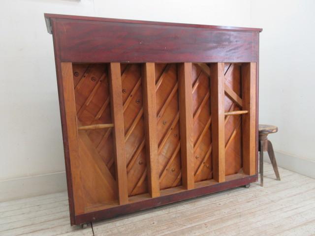 ヤマハ製ピアノ昭和14年日本楽器製     アンティーク店舗什器カフェ什器古家具_画像9