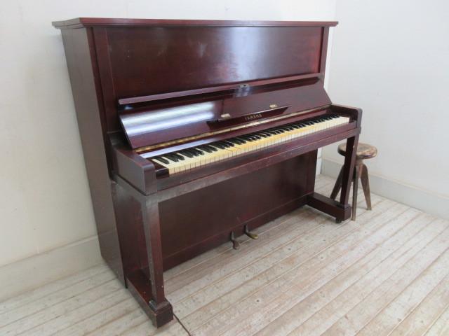 ヤマハ製ピアノ昭和14年日本楽器製     アンティーク店舗什器カフェ什器古家具_画像10