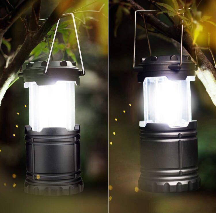 LEDランタン 明るい 携帯型 折り畳み式 テントライト 防水仕様 防災対策 登山 夜釣り ハイキング アウトドア キャンプ用 2個セット お得!_画像6
