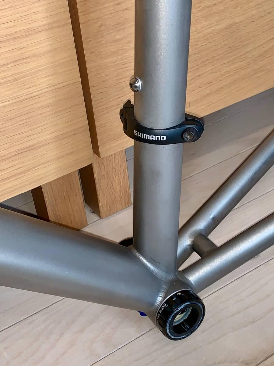 Lynskey Cooper 2012 チタン ロードバイクフレーム (Ultegra BB, CaneCreekヘッドパーツ, ControlTechカーボンフォーク、FDバンドおまけ)_画像7
