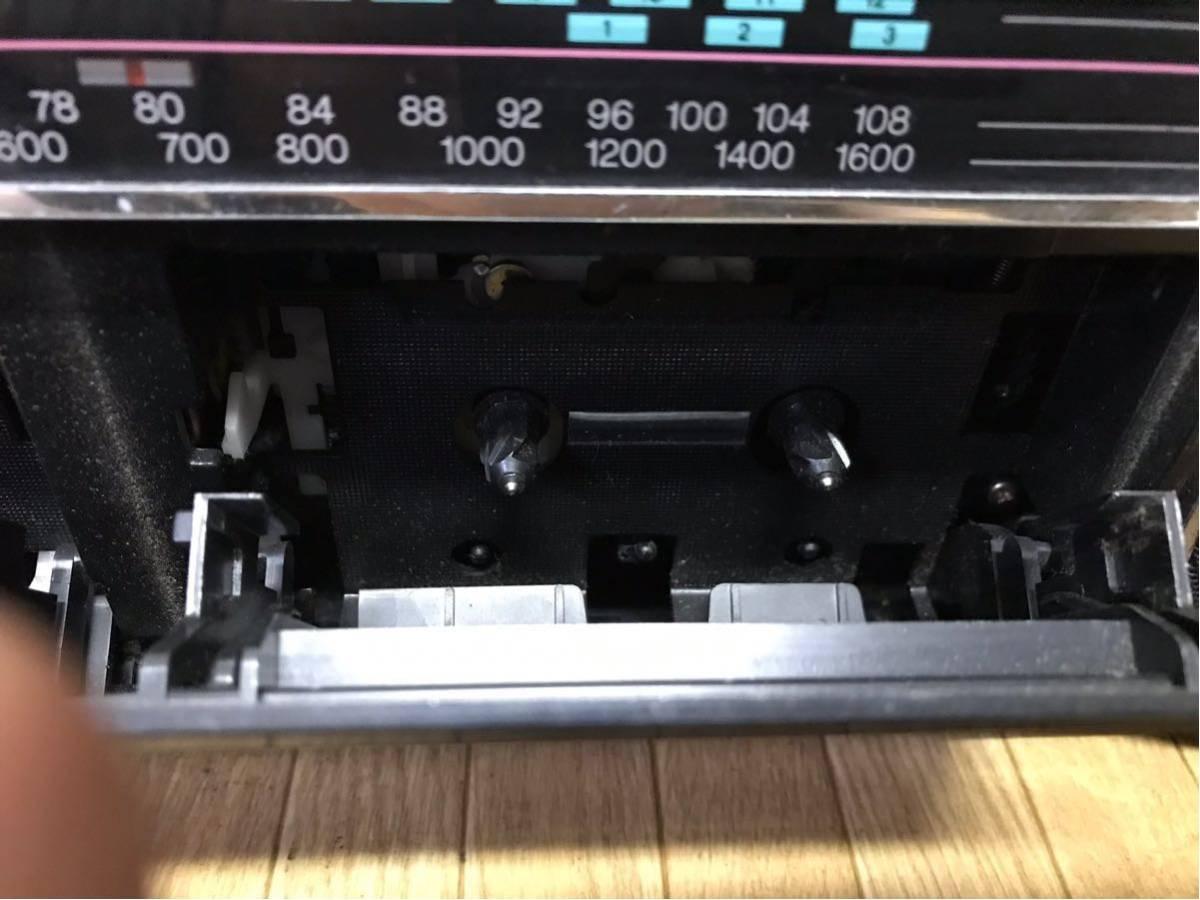 長野発!昭和レトロ SANYO MR-WF5 k ラジカセ 箱付 現状ジャンク品 即決_画像8