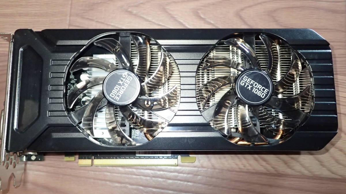 中古品:Palit NE51060015F9-1061D (GeForce GTX1060 3GB DUAL)  _画像3