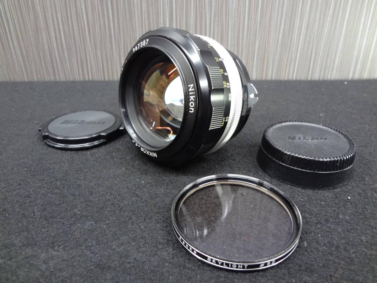 Nikon ニコン NIKKOR-S・C Auto 1:1.2 f=55mm フィルムカメラレンズ / Kenko SKYLIGHT Φ52 レンズフィルター S-05042