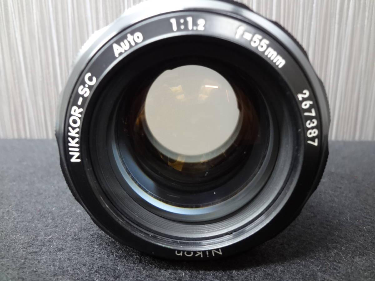 Nikon ニコン NIKKOR-S・C Auto 1:1.2 f=55mm フィルムカメラレンズ / Kenko SKYLIGHT Φ52 レンズフィルター S-05042_画像2