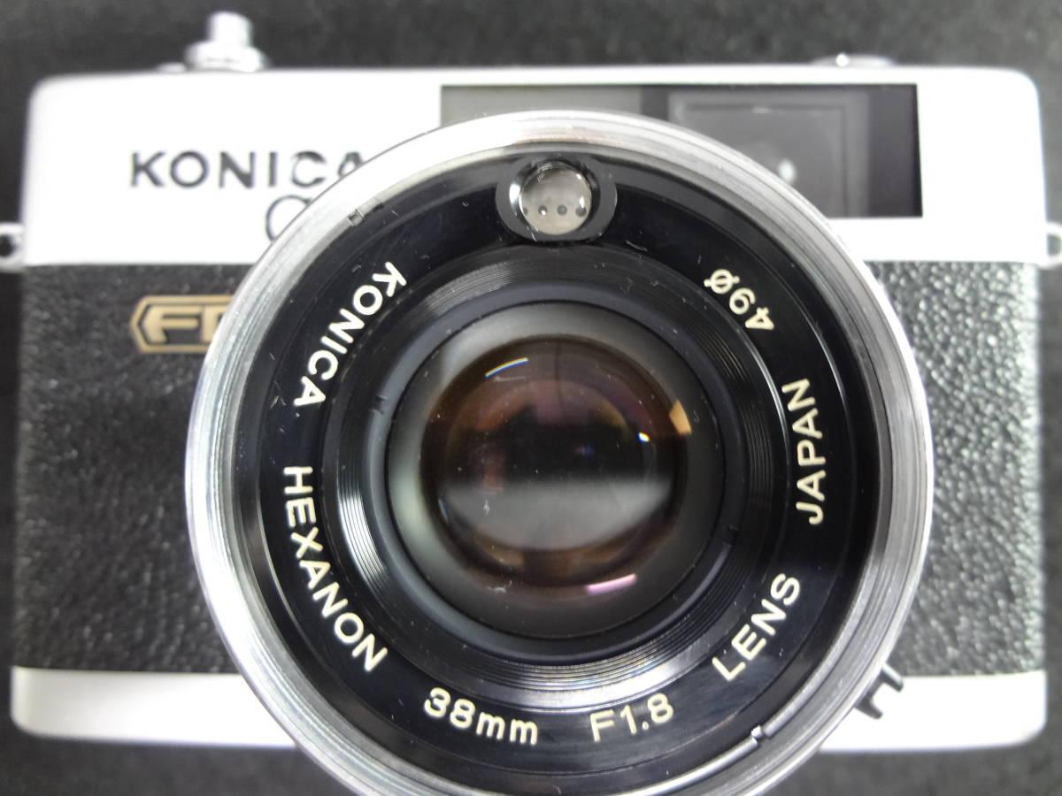KONICA コニカ C35 FD コンパクトフィルムカメラ / HEXANON 38mm F1.8 レンズ / KAKONET P ストロボ セット S-05048_画像3