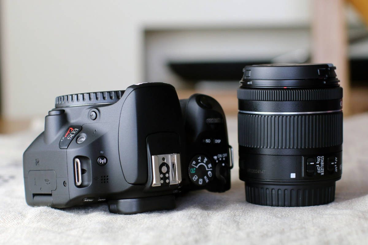 傷汚れ無し!購入半年~メーカー保証有★Canon キャノン EOS KissX9 EF-S18-55mm IS STM キット & EF50mm1.8Ⅱ★付属品完備 動作確認済★_画像8