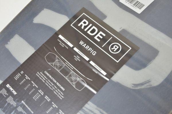 新品 未使用 18/19 2019年 RIDE ライド WARPIG 151cm ワーピグ スノーボード フラットロッカー ディレクショナル_画像6