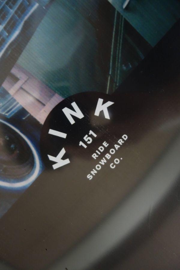 新品 未使用 18/19 2019年 RIDE ライド KINK 151cm キンク スノーボード ハイブリッドキャンバー ツインチップ_画像5