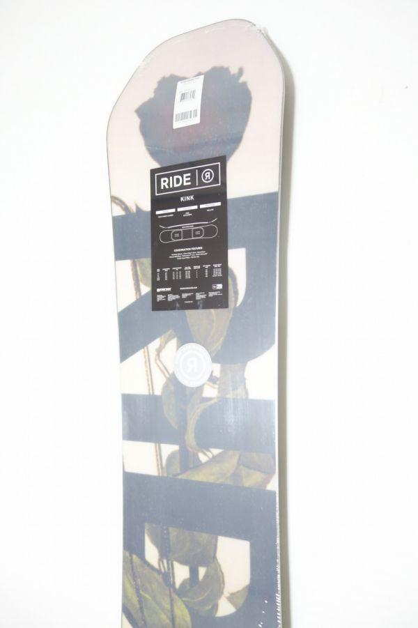 新品 未使用 18/19 2019年 RIDE ライド KINK 151cm キンク スノーボード ハイブリッドキャンバー ツインチップ_画像7