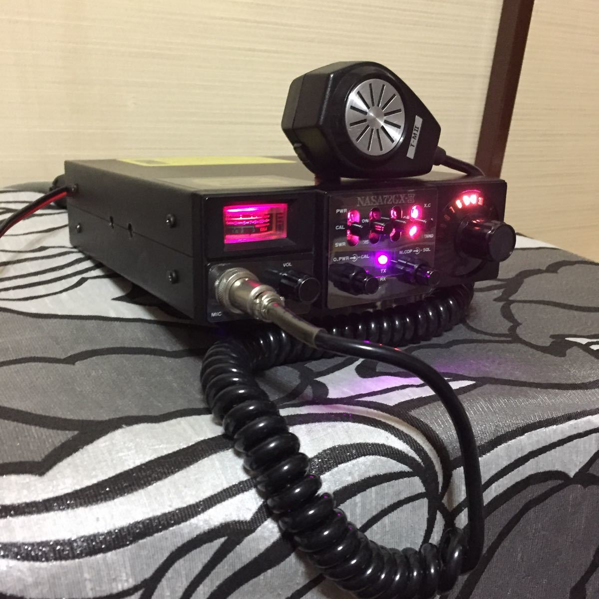 CB transceiver NASA72GX-II OHAMIyo shino SPeciAL Hurricane use switch beautiful goods black exchange condition excellent power cord new goods T-MII lock type Mike working properly goods