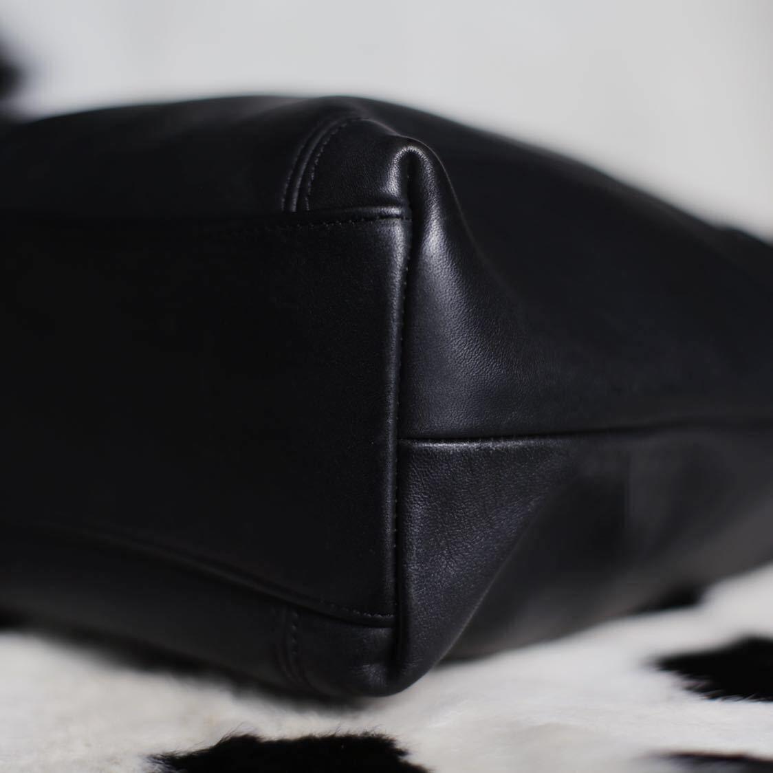 極美品 美品 コーチ COACH トートバッグ バッグ ビジネスバッグ 黒 ブラック レザー メンズバッグ 革 15万 オールドコーチ ビンテージ B5_画像5