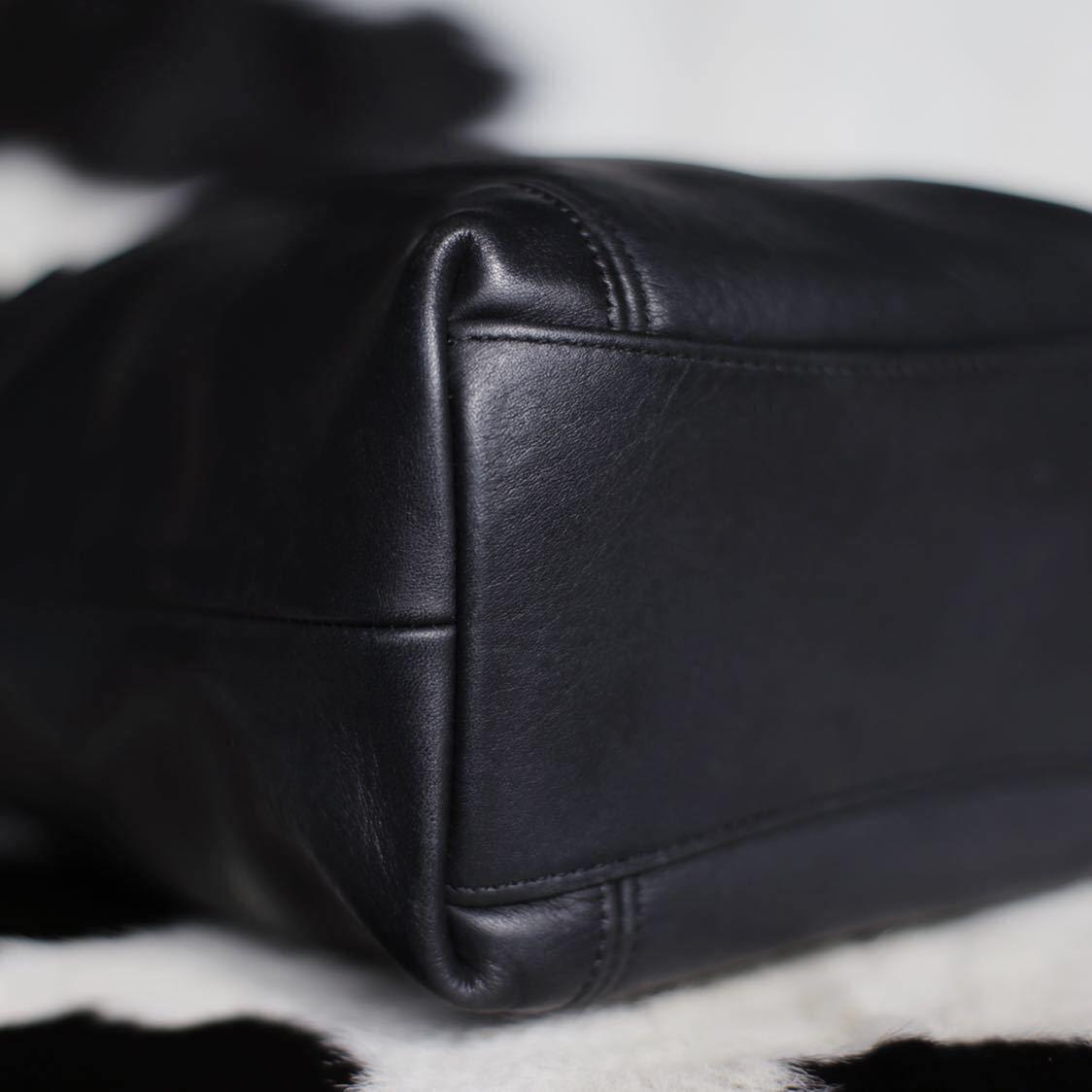 極美品 美品 コーチ COACH トートバッグ バッグ ビジネスバッグ 黒 ブラック レザー メンズバッグ 革 15万 オールドコーチ ビンテージ B5_画像6
