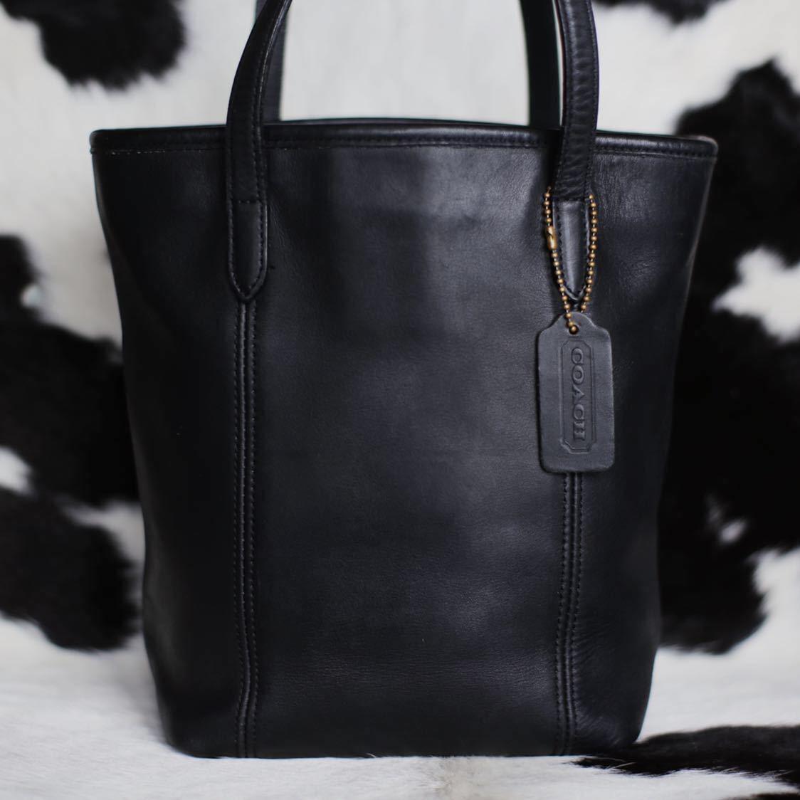 極美品 美品 コーチ COACH トートバッグ バッグ ビジネスバッグ 黒 ブラック レザー メンズバッグ 革 15万 オールドコーチ ビンテージ B5