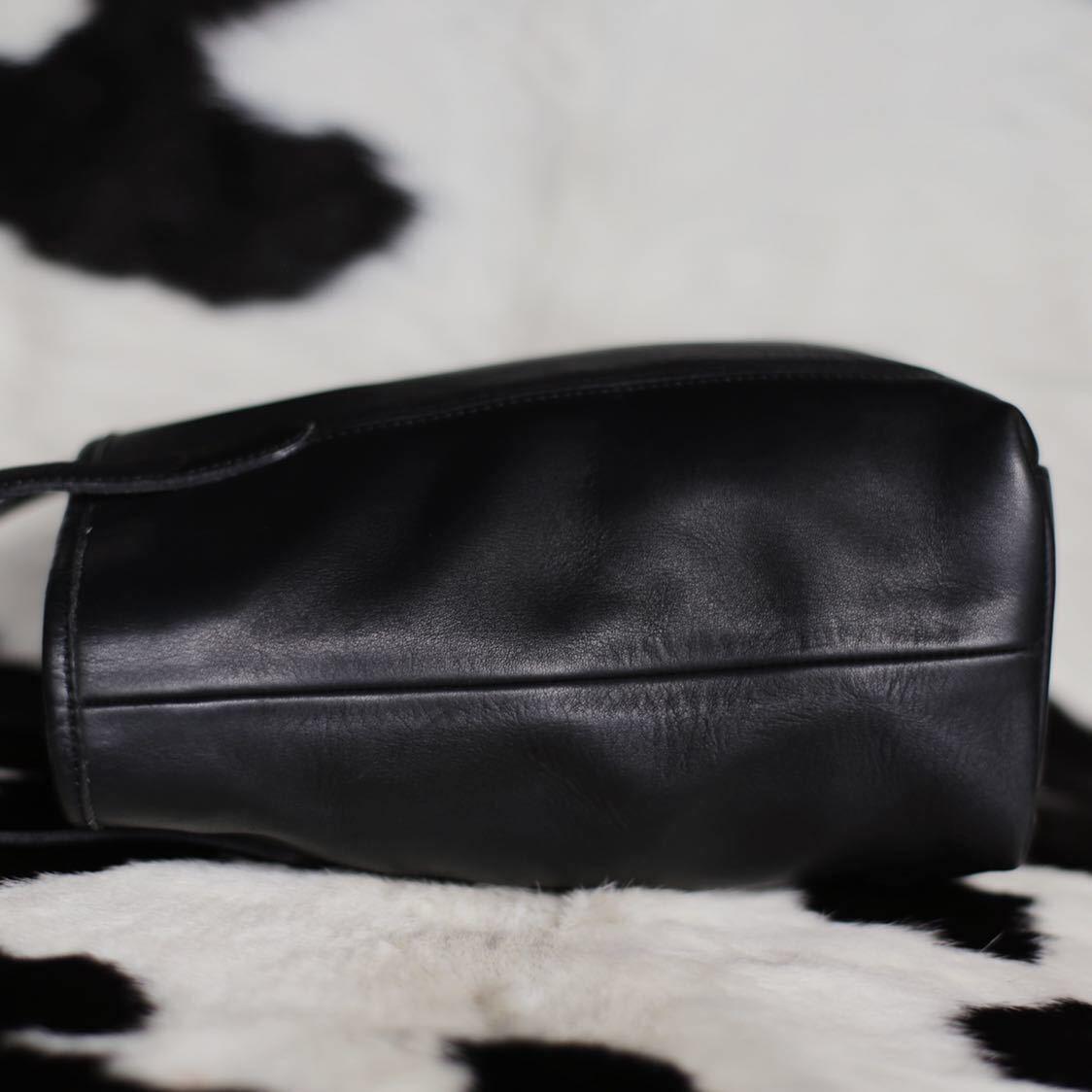 極美品 美品 コーチ COACH トートバッグ バッグ ビジネスバッグ 黒 ブラック レザー メンズバッグ 革 15万 オールドコーチ ビンテージ B5_画像4