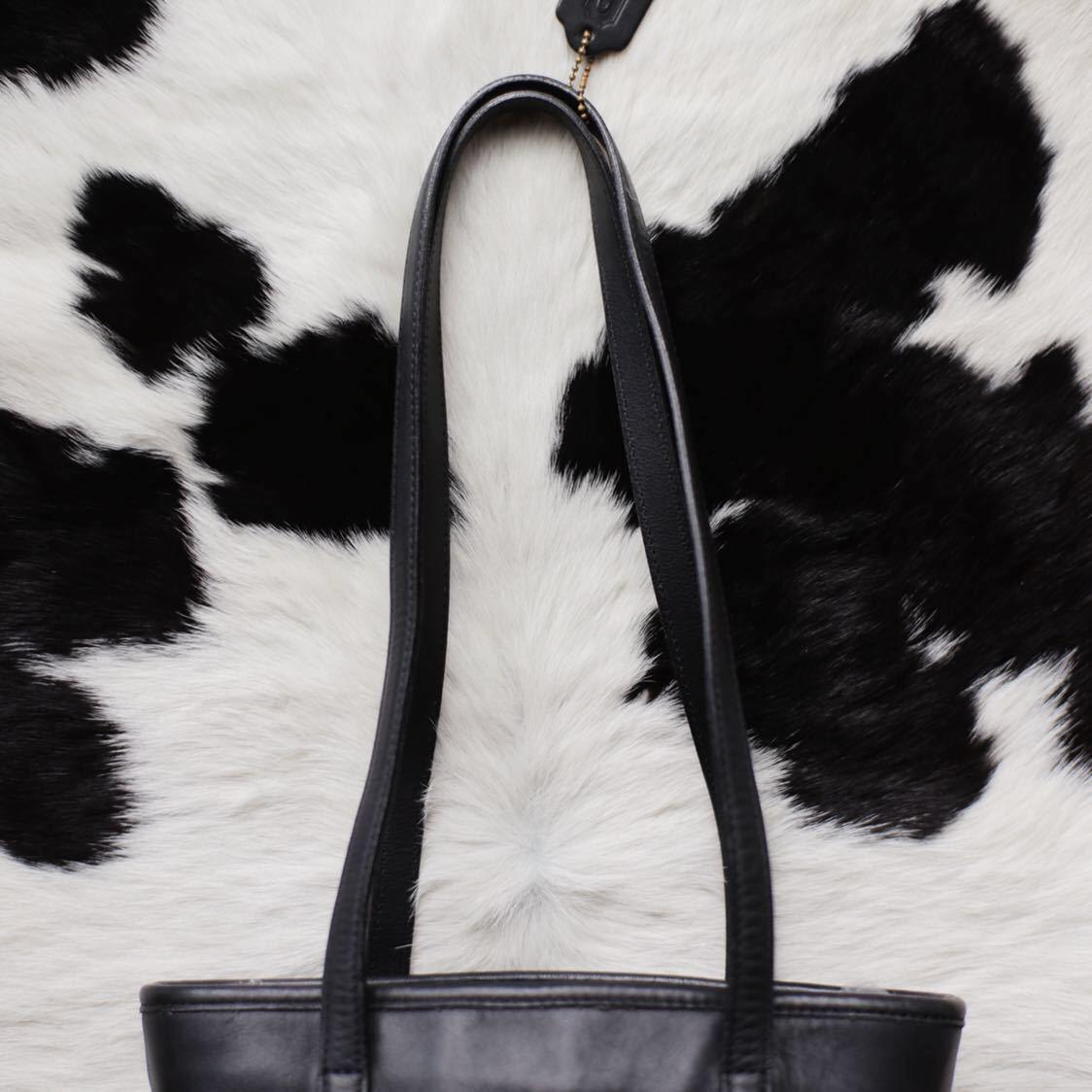 極美品 美品 コーチ COACH トートバッグ バッグ ビジネスバッグ 黒 ブラック レザー メンズバッグ 革 15万 オールドコーチ ビンテージ B5_画像8