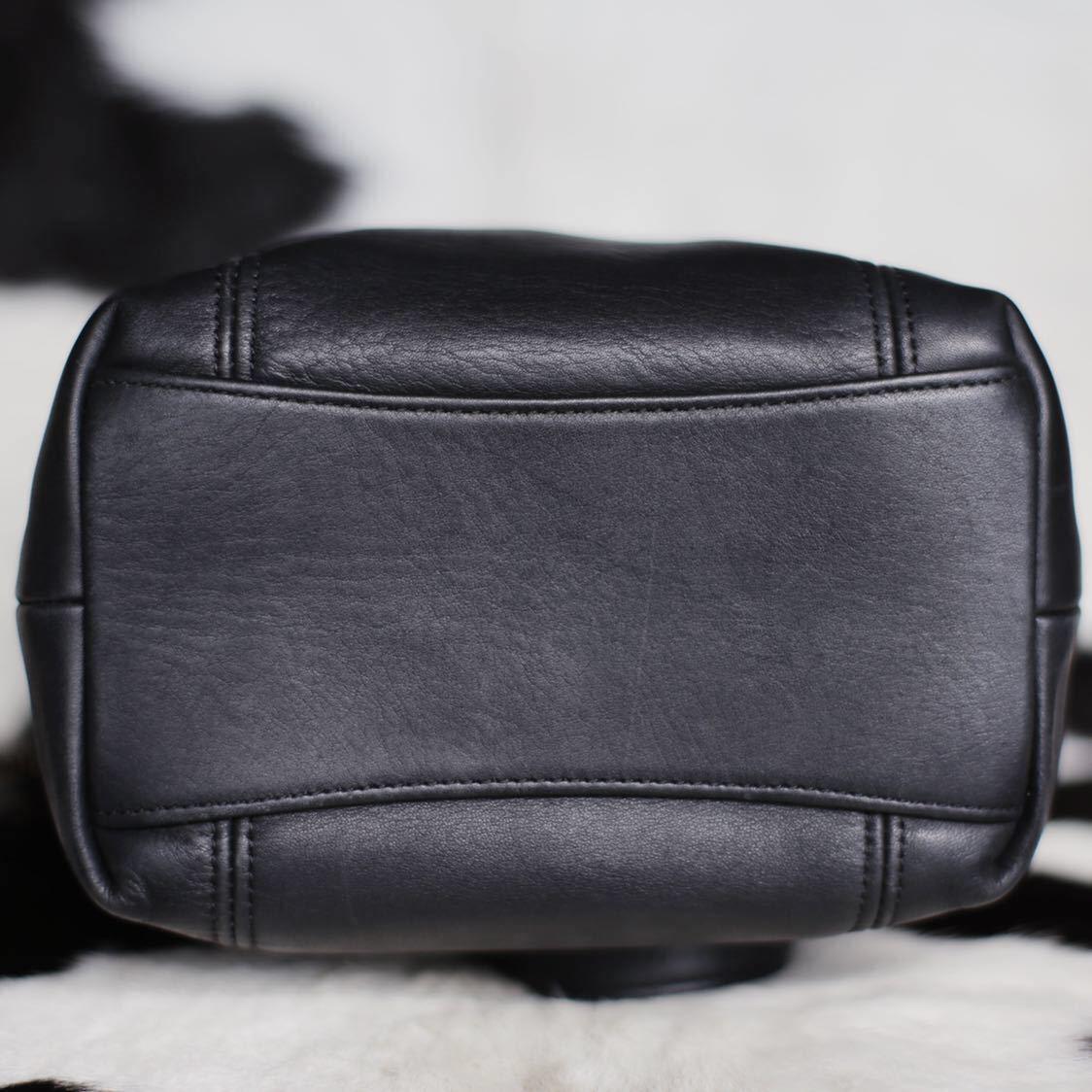 極美品 美品 コーチ COACH トートバッグ バッグ ビジネスバッグ 黒 ブラック レザー メンズバッグ 革 15万 オールドコーチ ビンテージ B5_画像7