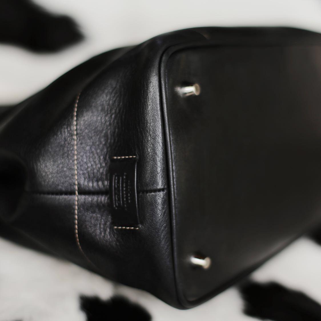 極美品 美品 コーチ COACH トートバッグ バッグ ビジネスバッグ 黒 ブラック レザー メンズバッグ 牛革 17万 オールドコーチ ヴィンテージ_画像5