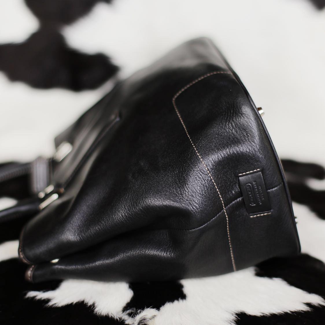 極美品 美品 コーチ COACH トートバッグ バッグ ビジネスバッグ 黒 ブラック レザー メンズバッグ 牛革 17万 オールドコーチ ヴィンテージ_画像3