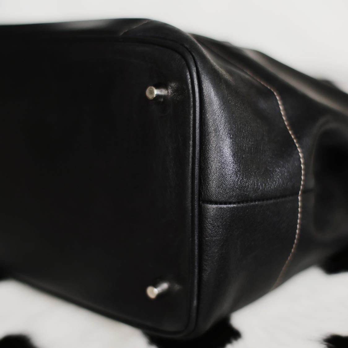 極美品 美品 コーチ COACH トートバッグ バッグ ビジネスバッグ 黒 ブラック レザー メンズバッグ 牛革 17万 オールドコーチ ヴィンテージ_画像6