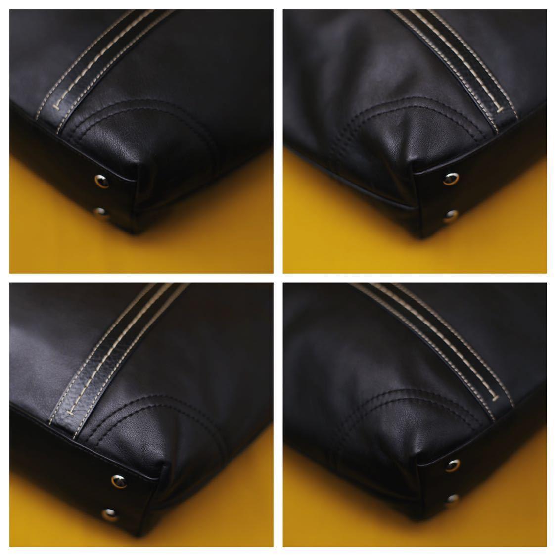 未使用品 美品 コーチ COACH トートバッグ バッグ ビジネスバッグ 黒 ブラック レザー メンズバッグ 革 14万 オールドコーチ ビンテージ _画像5
