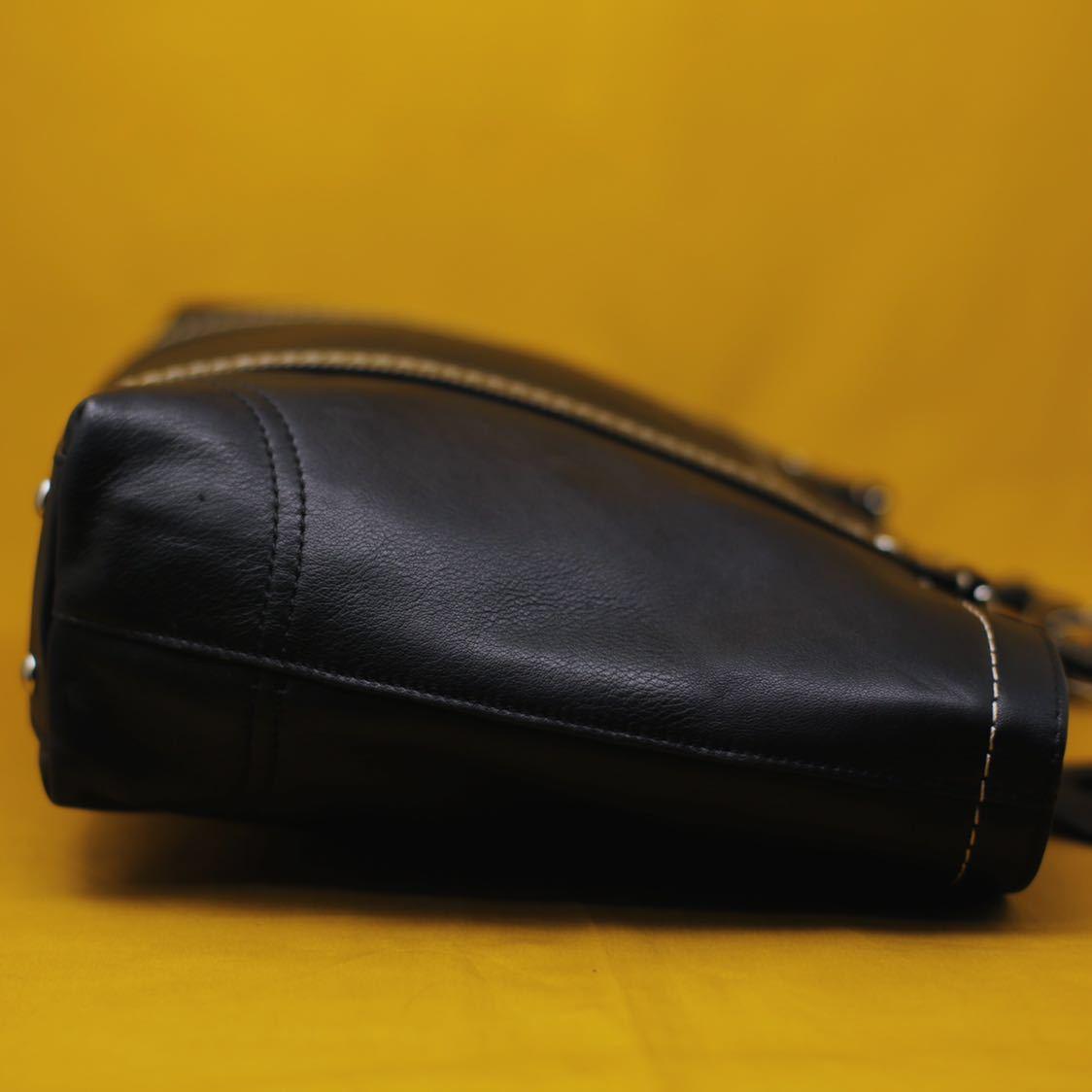 未使用品 美品 コーチ COACH トートバッグ バッグ ビジネスバッグ 黒 ブラック レザー メンズバッグ 革 14万 オールドコーチ ビンテージ _画像3