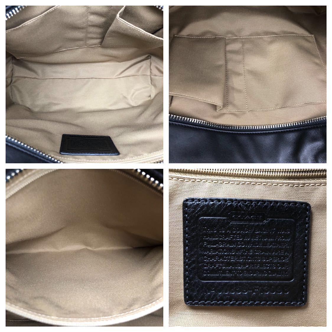 未使用品 美品 コーチ COACH トートバッグ バッグ ビジネスバッグ 黒 ブラック レザー メンズバッグ 革 14万 オールドコーチ ビンテージ _画像8