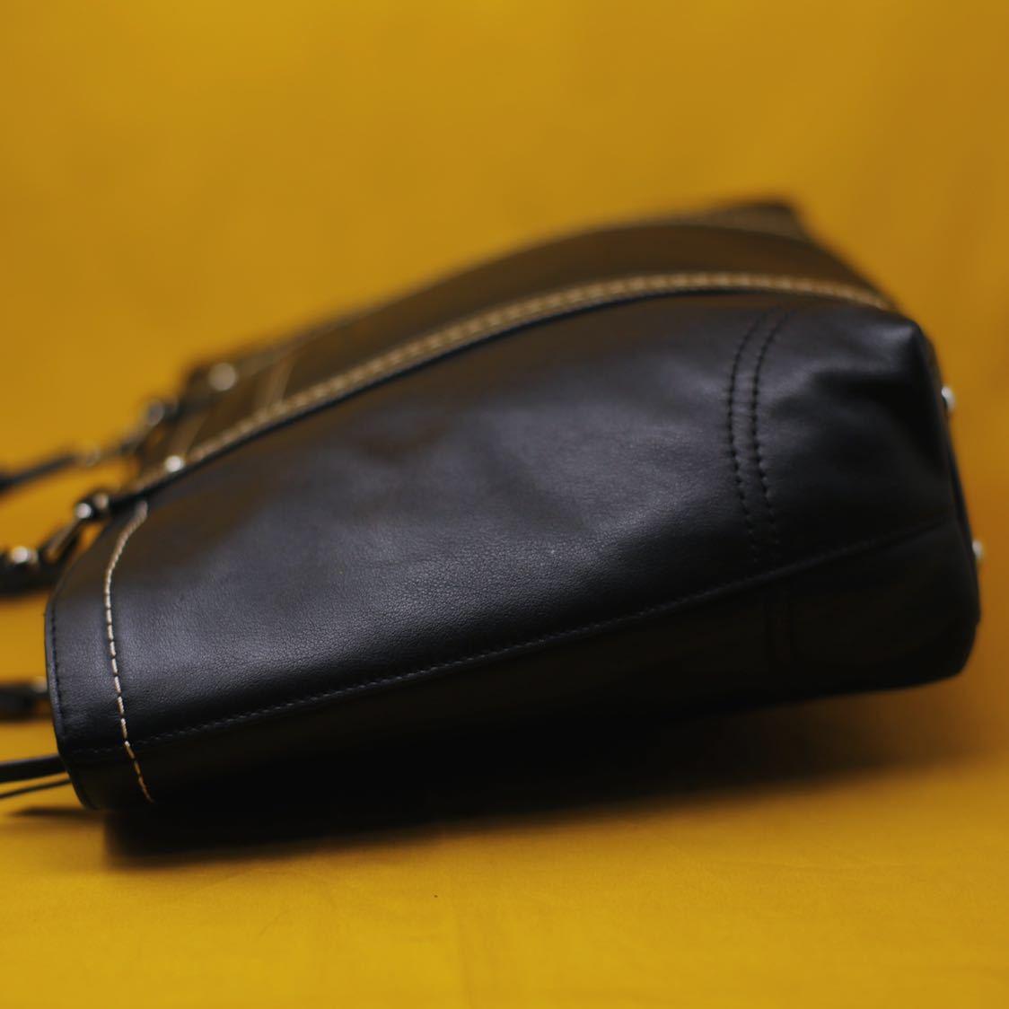 未使用品 美品 コーチ COACH トートバッグ バッグ ビジネスバッグ 黒 ブラック レザー メンズバッグ 革 14万 オールドコーチ ビンテージ _画像4