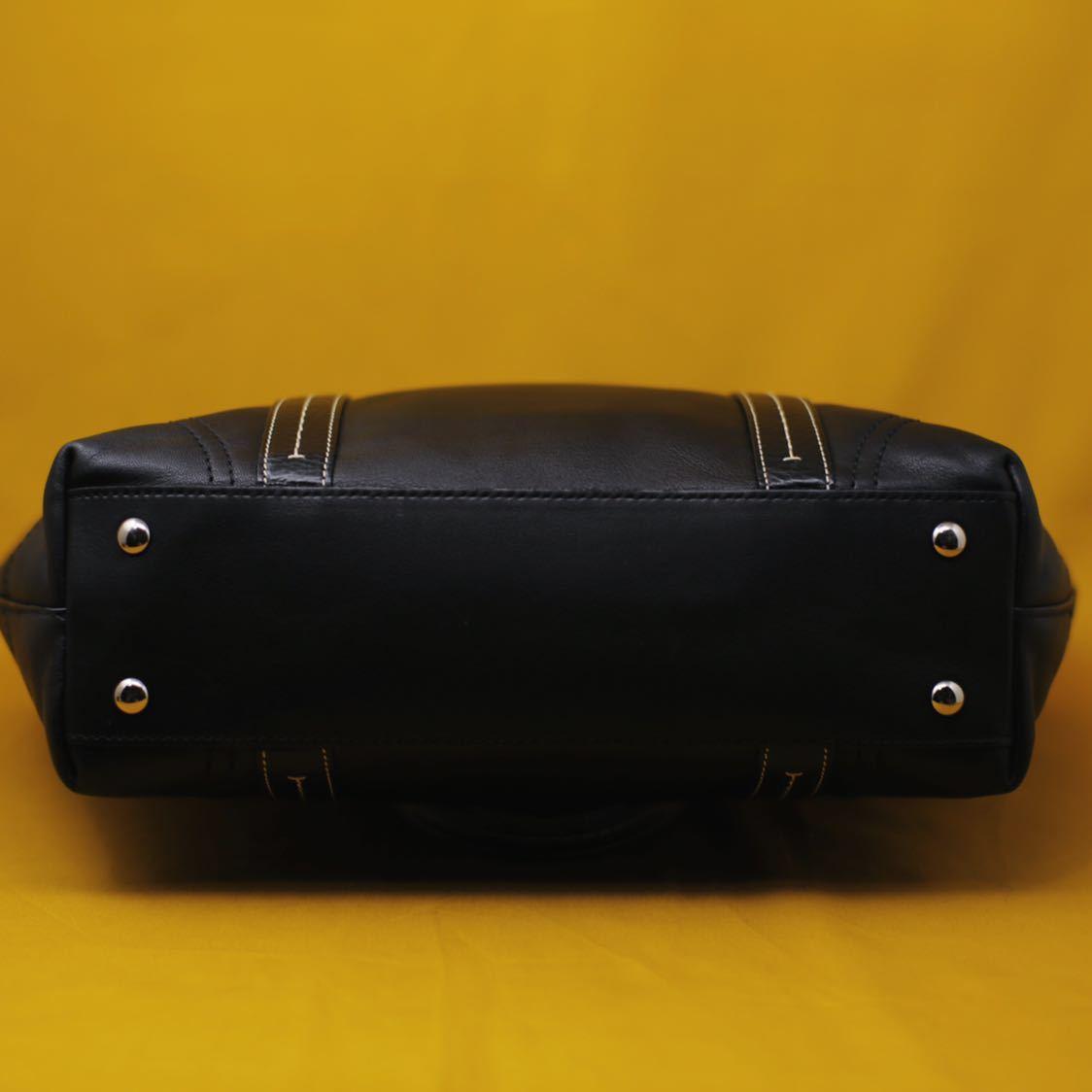 未使用品 美品 コーチ COACH トートバッグ バッグ ビジネスバッグ 黒 ブラック レザー メンズバッグ 革 14万 オールドコーチ ビンテージ _画像6