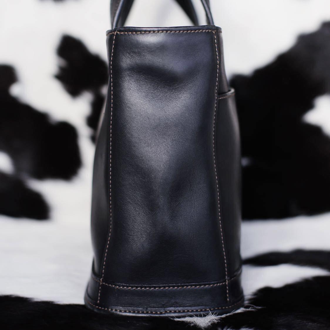 未使用品級 美品 コーチ COACH トートバッグ バッグ ビジネスバッグ 黒 ブラック レザー メンズバッグ 革 15万 オールドコーチ ビンテージ_画像4