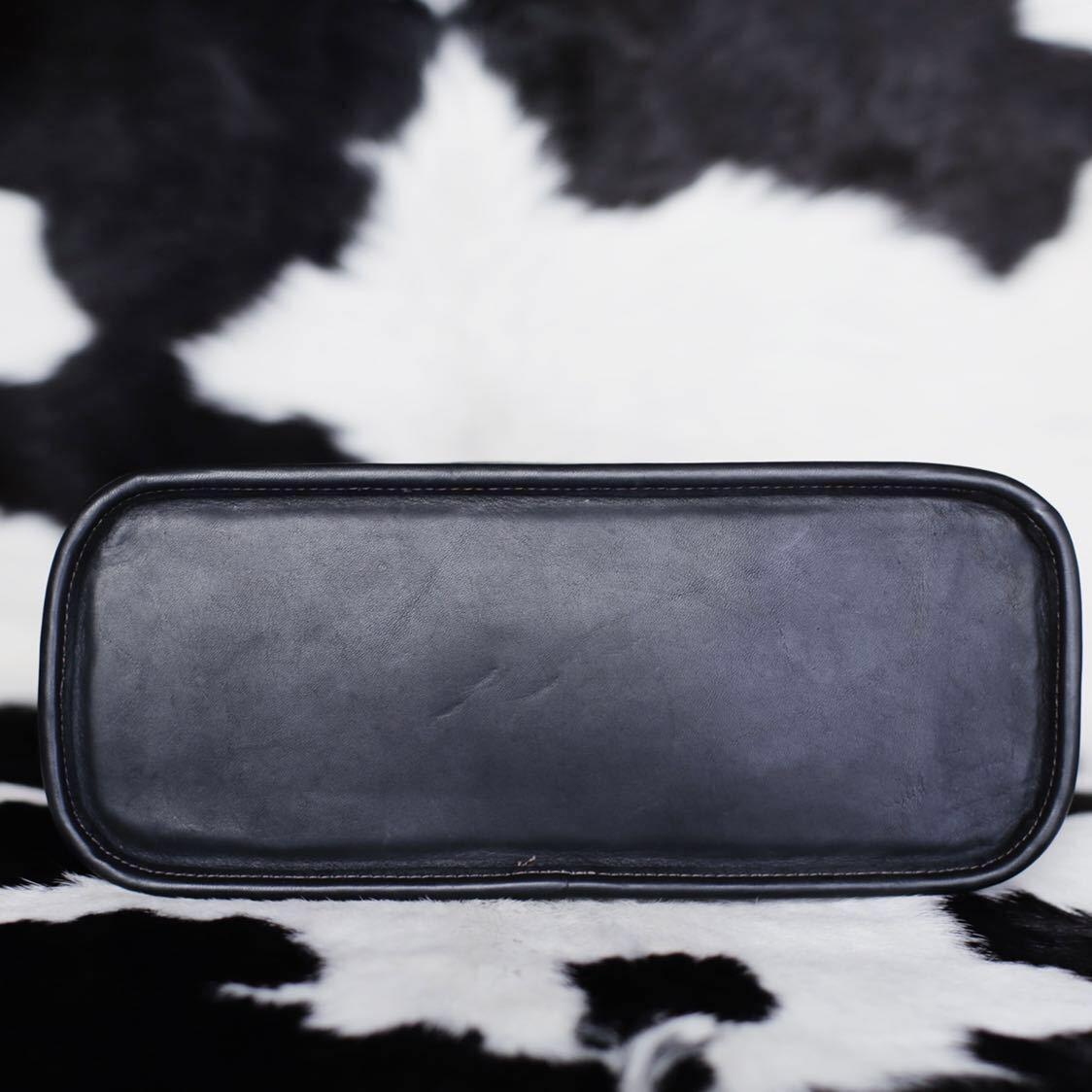 未使用品級 美品 コーチ COACH トートバッグ バッグ ビジネスバッグ 黒 ブラック レザー メンズバッグ 革 15万 オールドコーチ ビンテージ_画像7