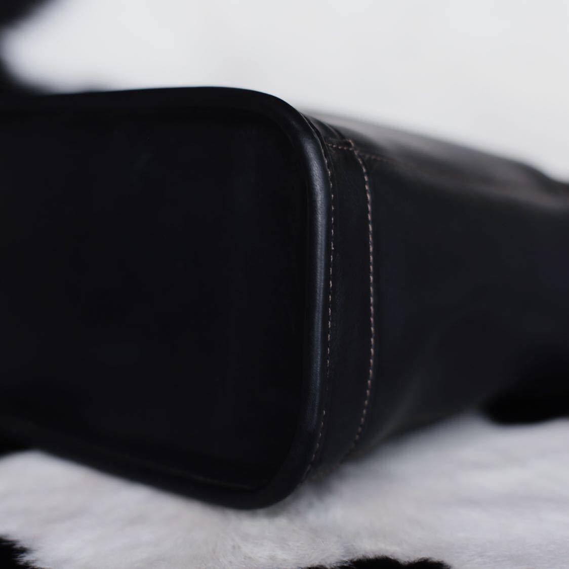 未使用品級 美品 コーチ COACH トートバッグ バッグ ビジネスバッグ 黒 ブラック レザー メンズバッグ 革 15万 オールドコーチ ビンテージ_画像6