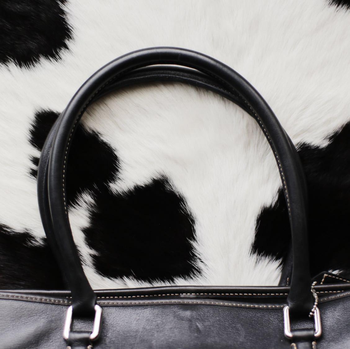 極美品 美品 コーチ COACH トートバッグ バッグ ビジネスバッグ 黒 ブラック レザー メンズバッグ 牛革 17万 オールドコーチ ヴィンテージ_画像8