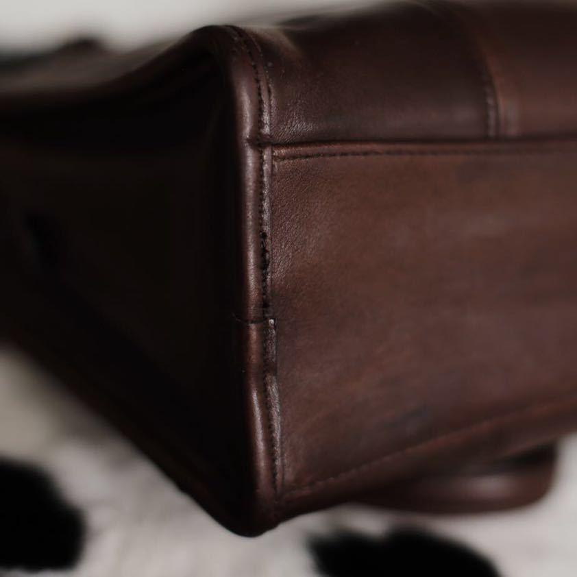 極美品 美品 コーチ COACH ハンドバッグ バッグ ビジネスバッグ 茶 ダークブラウン レザー メンズバッグ 牛革 15万 オールドコーチ _画像6